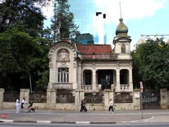 O casarão da Paulista, nas proximidades da rua Augusta (foto do Sao Paulo Antiga)