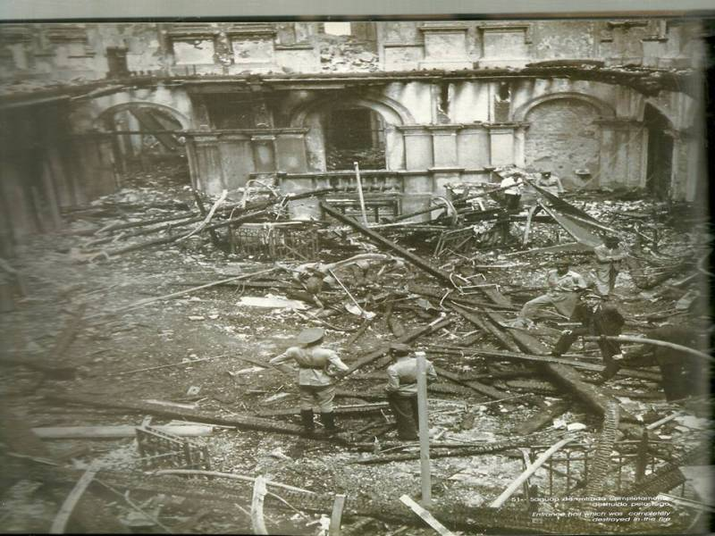 Incêndio da Estação da Luz em 1946.