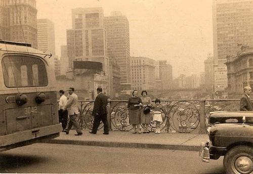 Viaduto de Santa Ifigênia em 1961