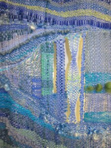 a part of blue tapestry