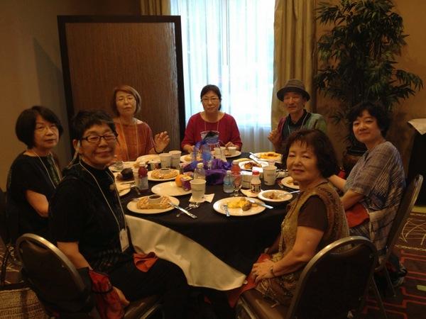 Kenzo, (clockwise)Akiko, Masako, Misuzu, Michiko, Toshiko and Mieko