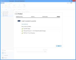 WebMatrix3 Install PHP 5.5 Step 3