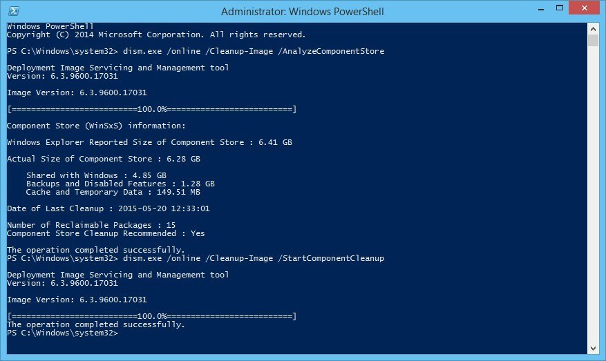 How to: Disk Cleanup in Windows Server 2012 (R2) - DISM - Sysadmins of the North