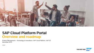 SAP Cloud Platform Portal Overview
