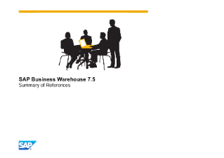 SAP Business Warehouse 7.5 References