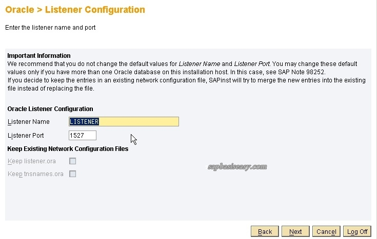 listener port for sap dialog instance