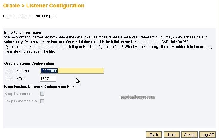 listener port for sap dialog instance