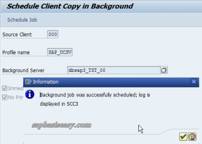 Choose Background Server for Client Copy
