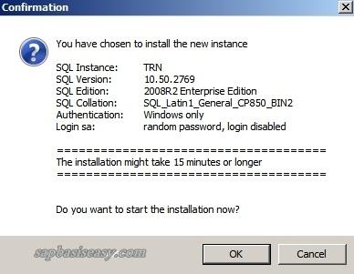 Install SAP SQL Server 2008