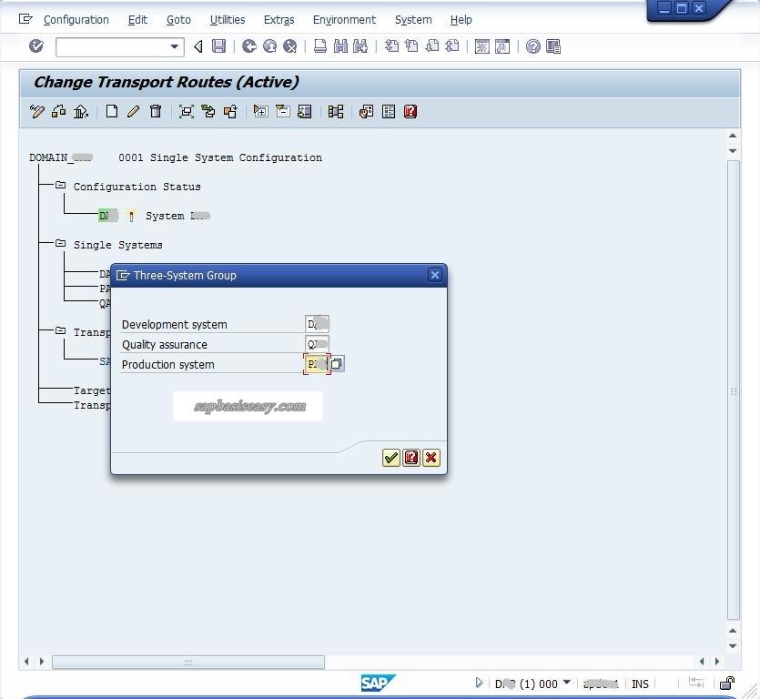 Standard Three SAP System Group