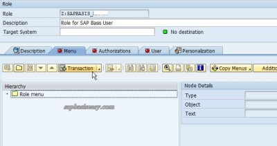 create SAP Role