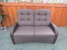 reclining rattan 4 seater sofa
