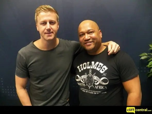 Eusebius McKaiser (right) seen here with Gareth Cliff from Cliff Central.