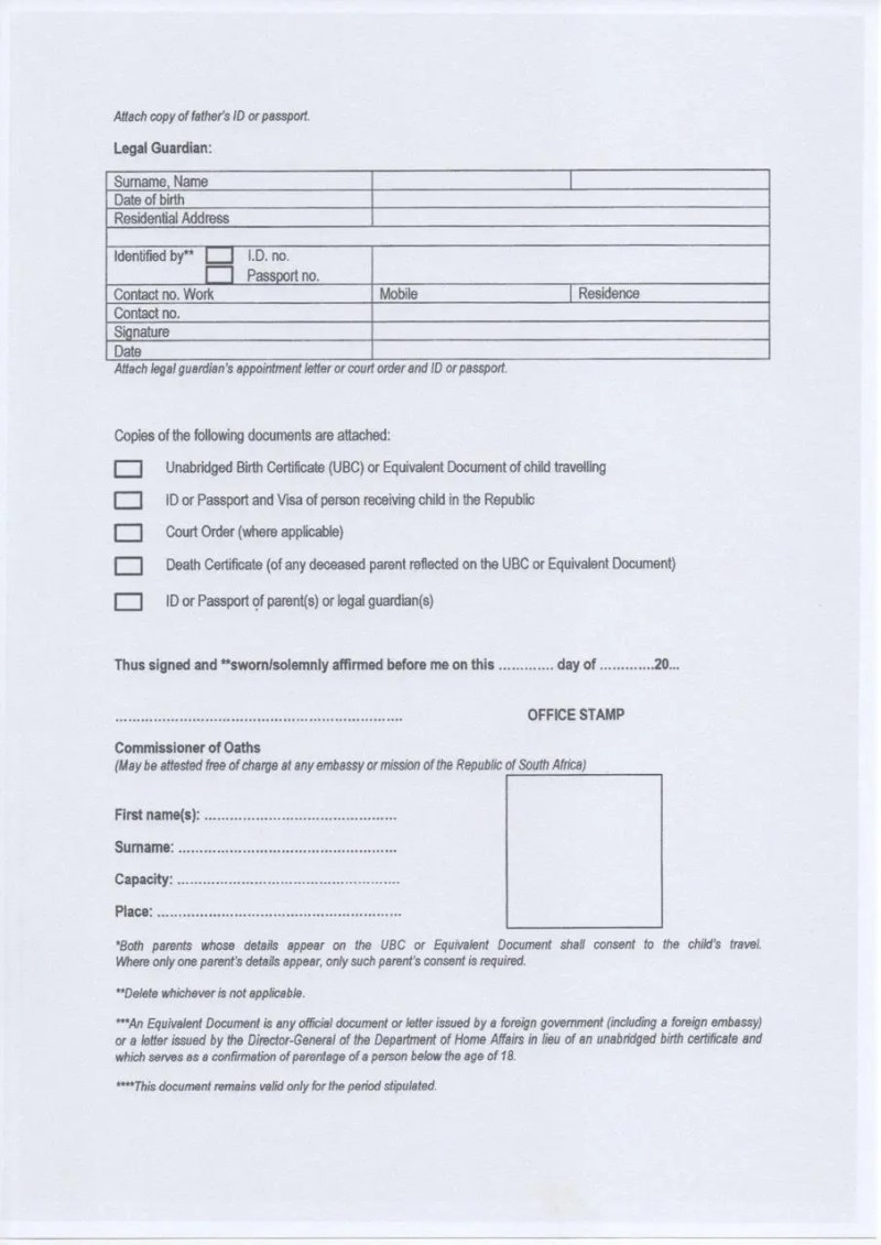 Application For British Passport In South Africa
