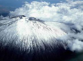 Italia . Una veduta aerea dell'Etna.De Agostini Picture Library/Pubbli Aer Foto