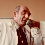 Cesare Maltoni in laboratorio