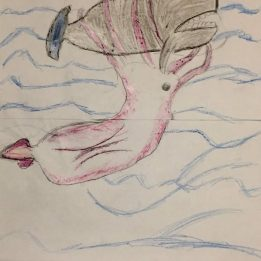 La piccola Adriana ha disegnato la battaglia tra Capo e Cala
