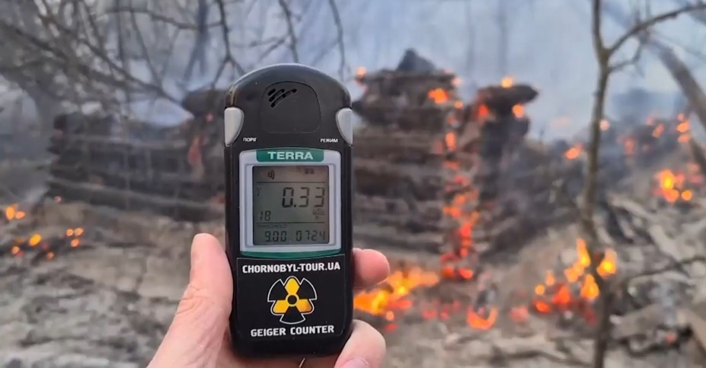 Incendio vicino la centrale di Chernobyl