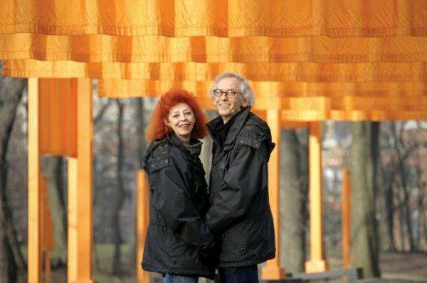 """Christo e Jeanne-Claude a """"The Gates"""", New York, nel 2005"""