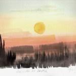 Aurinko ei laske, l'acquarello di Fabrizio Carbone