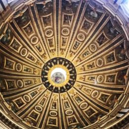 La Cupola vista dal baldacchino interno