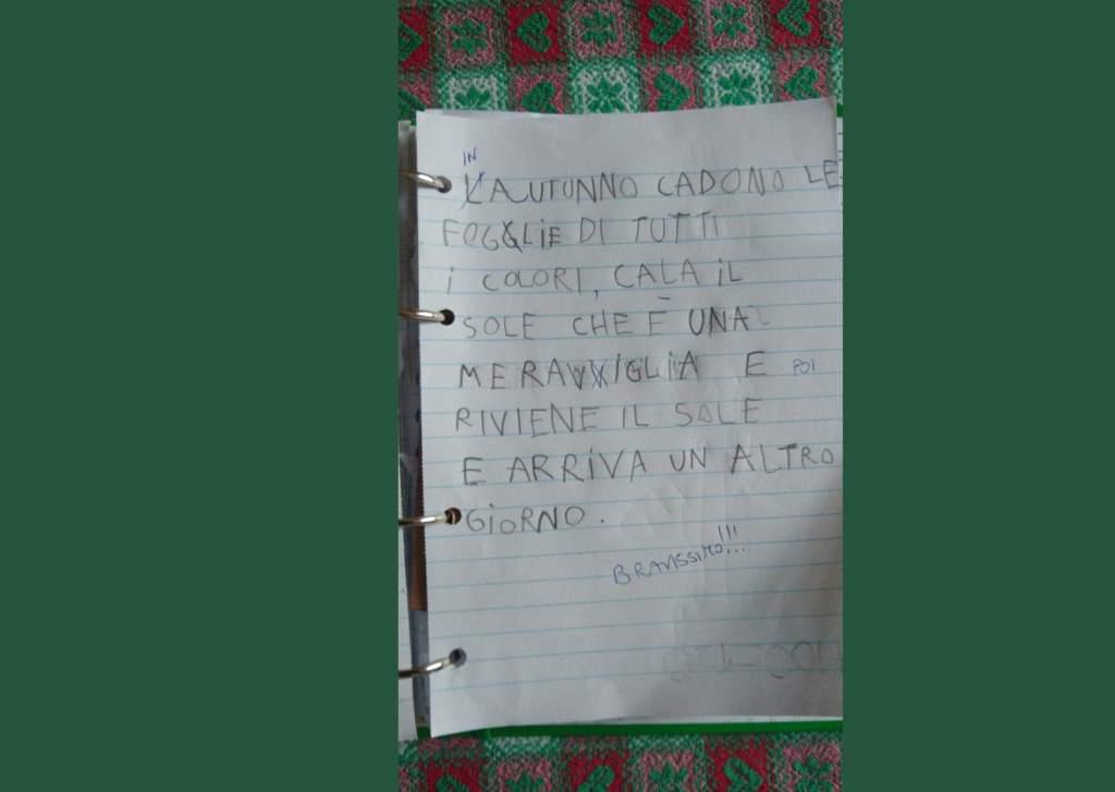 La poesia di Bruno, 7 anni, di Roma