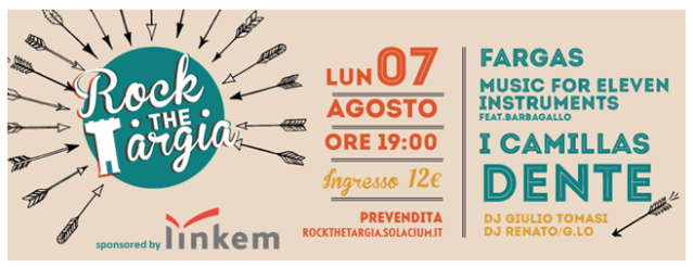 Rock the Targia 2017: il 7 agosto a Siracusa