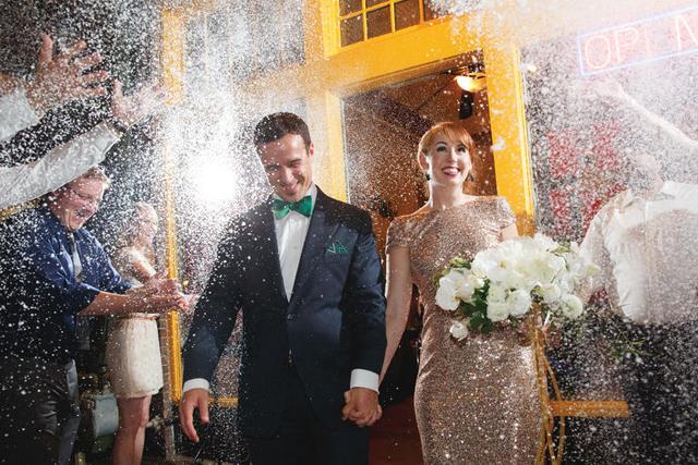 Bubbles Wedding Reception