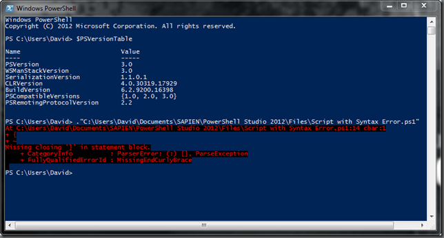 PowerShell V3 Console