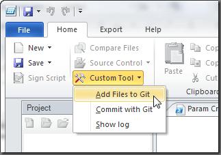 Custom Tool Menu Global Commands