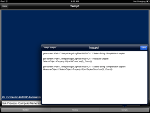 Figure 2: Edit scripts on your mobile device.
