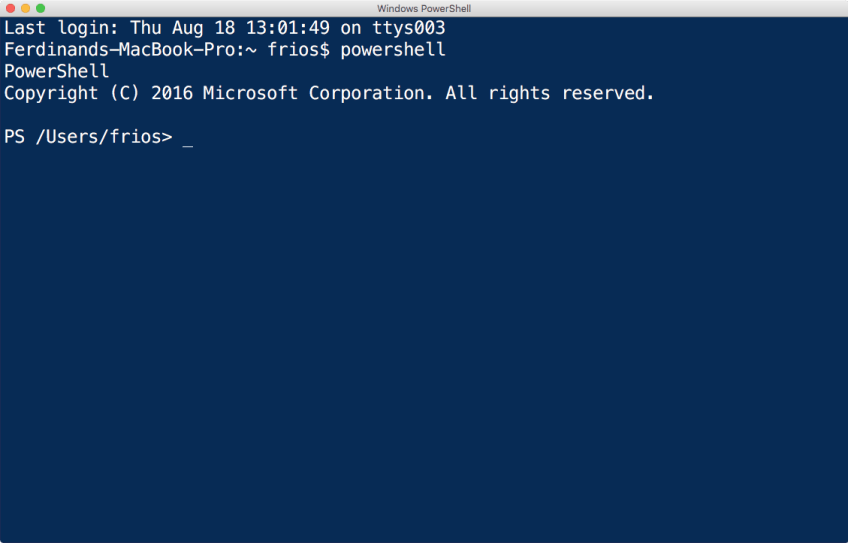 Figure 1 - PowerShell Terminal Session
