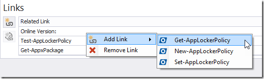 Context Menu - Add Link