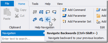 HelpWriter Navigation