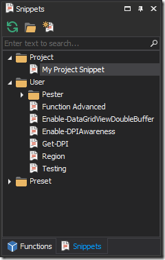 Project Snippets