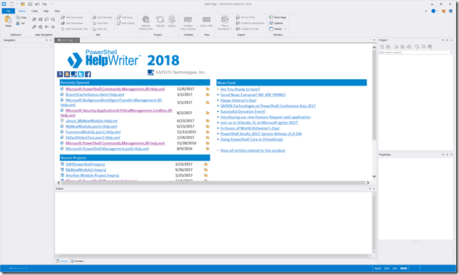 PowerShell HelpWriter 2018