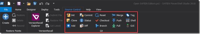 Source Control Tab - Git