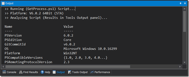 Run PSCore Scripts