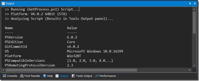 Run PSCore Scripts