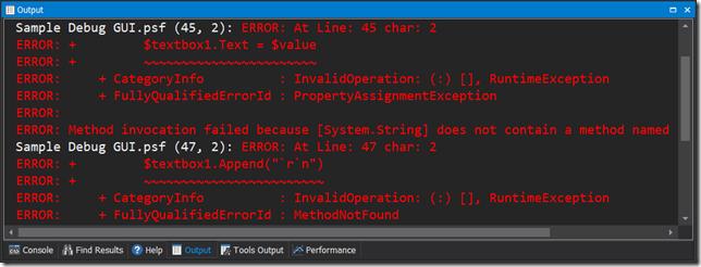 Output Errors