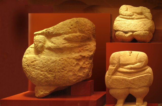These figurines at Malta's National Museum of Archaeology come from Ħaġar Qim, a complex of megalithic structures that is one of the oldest religious sites in the world.