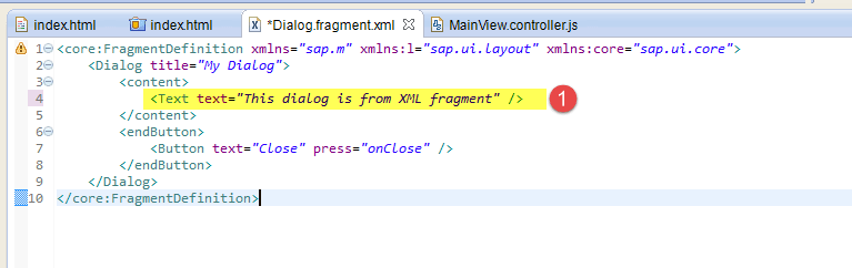 Fragment in SAPUI5