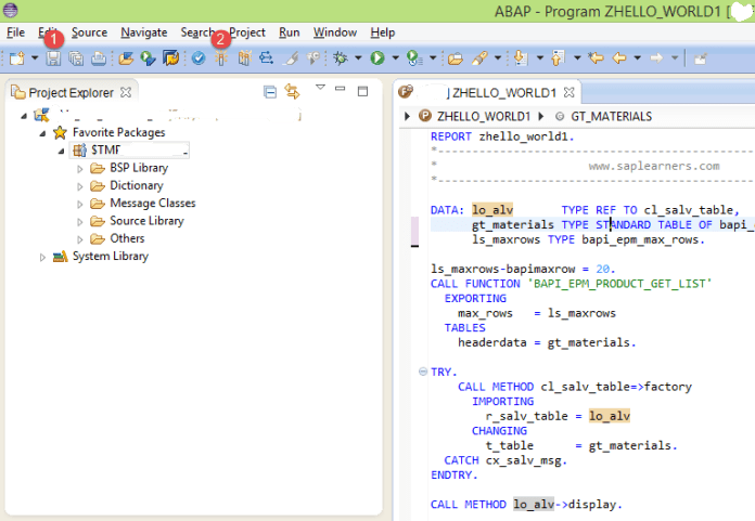 Save and Activate ABAP Program
