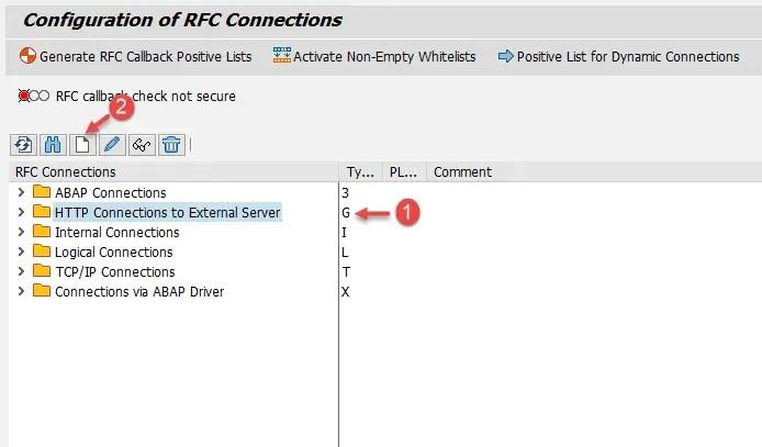 Create RFC Connection