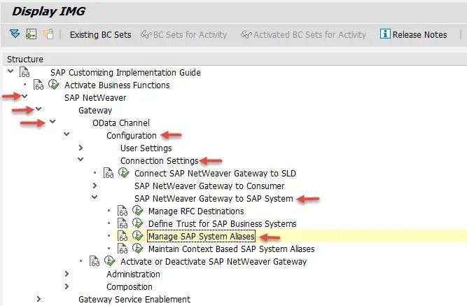 Manage SAP System Aliases