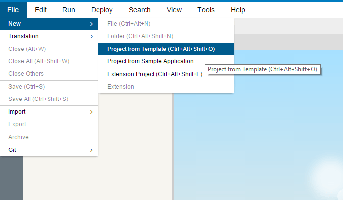 Create a SAPUI5 Project from Template