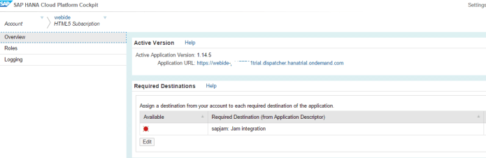 SAP WebIDE Application