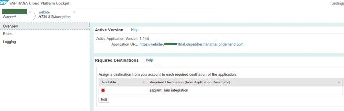 SAP WebIDE Application