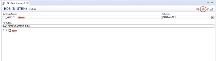 SAP HANA SQL Synonym Step_3
