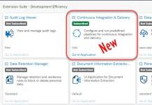 SAP Cloud Platform Continuous Integration and Delivery Service Step4